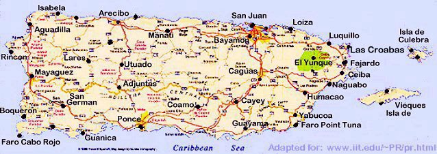 Puerto Rico Journey IITs Island Students Share Their Roots - Map of puerto rico caribbean islands